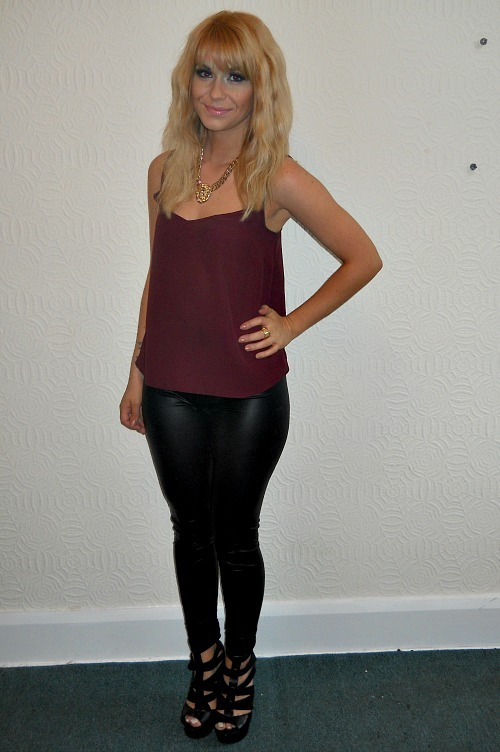 88daf88220 ... Outfit of the Day  Cami and Leather Look Leggings ...