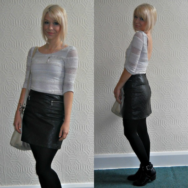 Outfit of the Day: Quilted Leather Skirt | Vanity Claire