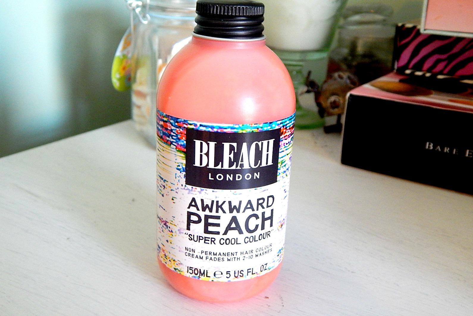 Bleach London Awkward Peach Hair Dye Review Vanity Claire