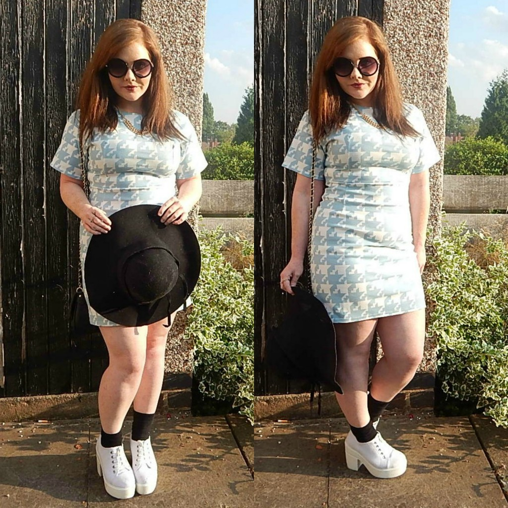 Missguided Dogtooth Mini Dress