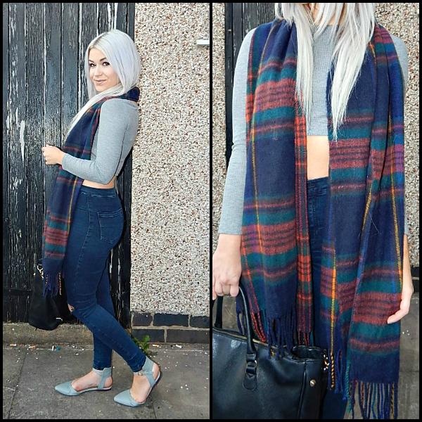 Primark tartan scarf