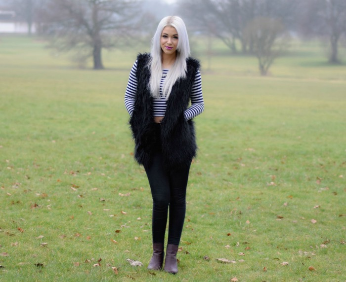 Outfit of the Day Faux Fur Gilet