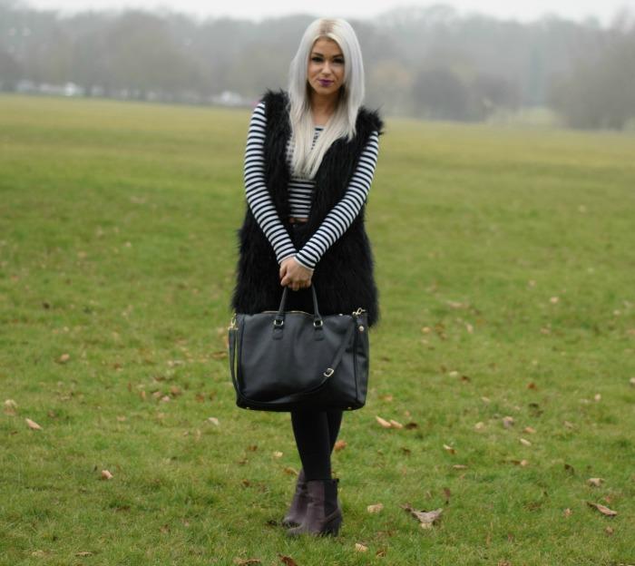 Fashion Blogger Fur Gilet