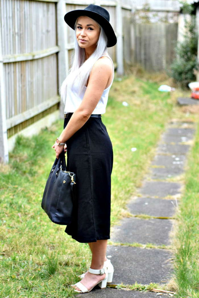 Outfit Of The Day: Petite Black Culottes