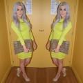 Fashion Blogger Neon Bodycon Dress