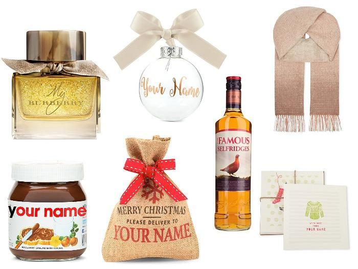 Selfridges Personalised Gifts