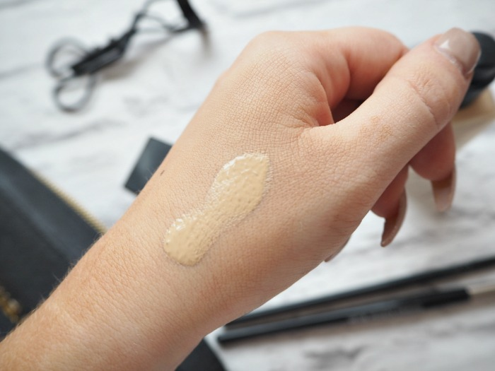 NARS All Day Luminous Weightless Foundation Santa Fe Swatch