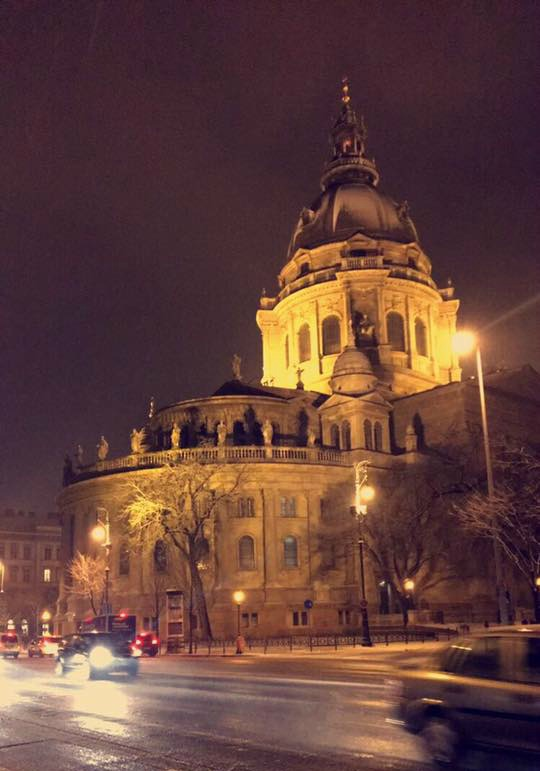 St Stephens Basilica in Winter