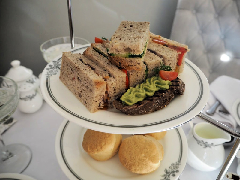 Sandwiches from vegan afternoon tea